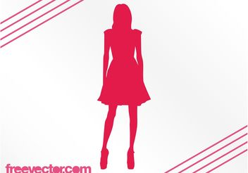 Fashion Girl Silhouette - vector gratuit #160675