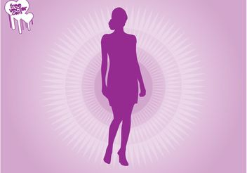 Purple Woman Silhouette - Free vector #160695
