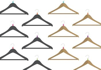 Coat Hanger Vectors with Sizes - vector #160705 gratis