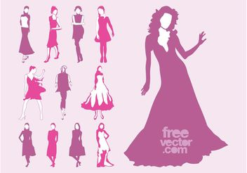 Vector Fashion Models Set - vector #160715 gratis