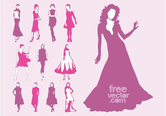 Vector Fashion Models Set - Free vector #160715