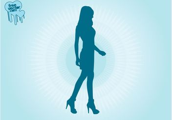 Walking Model Girl - vector gratuit #160725