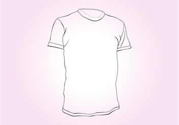 T-Shirt Outlines - vector gratuit #160825