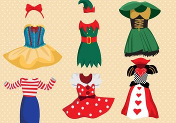 Fancy Dress Costume Vector Pack - бесплатный vector #160905