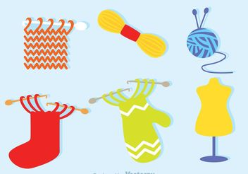 Knitting Icons - Free vector #160915