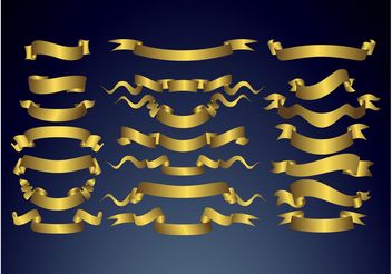 Golden Banners - vector gratuit #160955