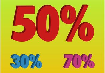 Percentage Numbers - vector gratuit #160995