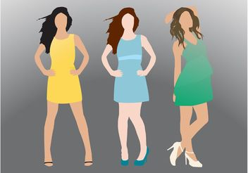 Modeling Girls - vector #161025 gratis