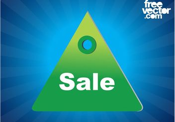 Sale Label Template - Free vector #161065