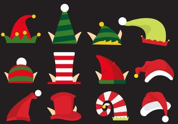 Elves Hat Vectors - vector gratuit #161075