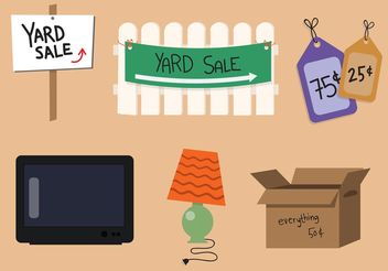 Yard Sale Vector Set - Free vector #161095