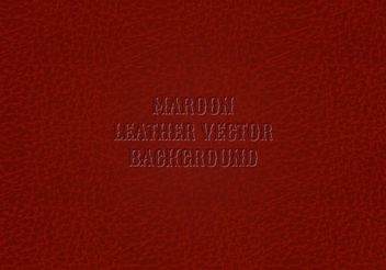 Free Maroon Leather Background Vector - бесплатный vector #161105