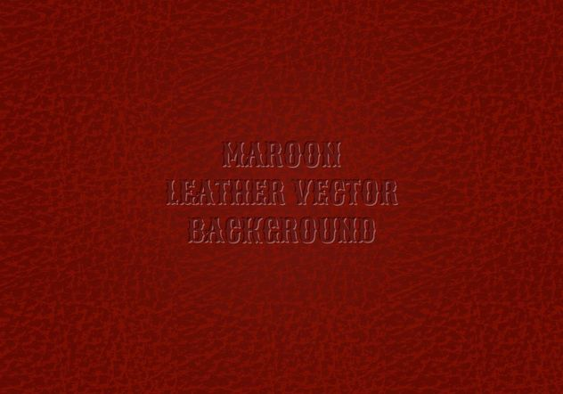 Free Maroon Leather Background Vector - Free vector #161105
