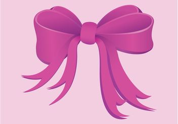 Pink Bow - Free vector #161185