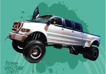 Ford F650 Super Duty Truck - бесплатный vector #161255