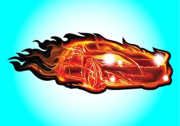 Fire Car - vector gratuit #161335