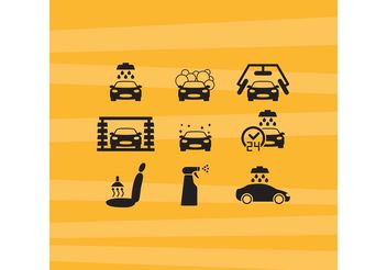 Car Wash Vector Icons - бесплатный vector #161395