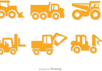Simple Yellow Dump Trucks Vector Pack - vector gratuit #161485