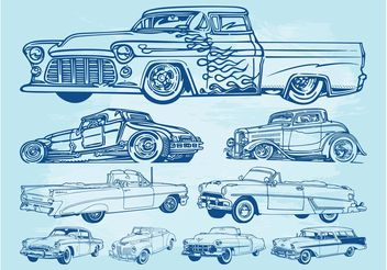 Classic Cars Graphics - Free vector #161695