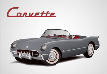 Chevrolet Corvette Vector - бесплатный vector #161775