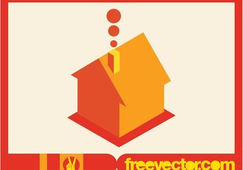 Vector House Icon in 3D - Kostenloses vector #161855