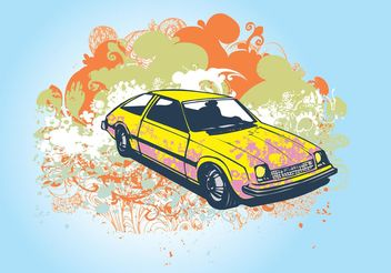 Retro Car - Free vector #161905
