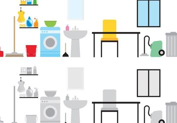 House Keeping Vector Pack - Free vector #161925