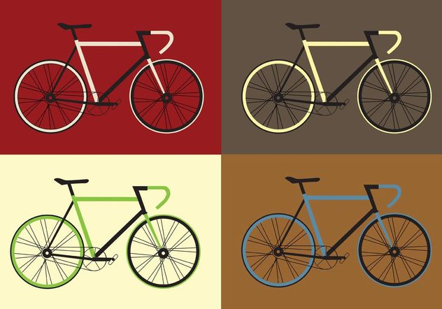 Free Vector Bicycle Vector Set - Free vector #161995