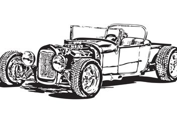 Free Model T hot rod vector - Free vector #162055