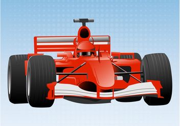 Formula One Car - Free vector #162125