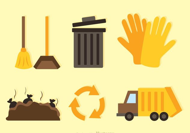 Recycle Flat Icons - vector #162205 gratis