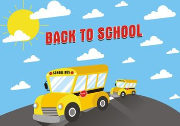 School Bus Background Free Vector - vector gratuit #162235