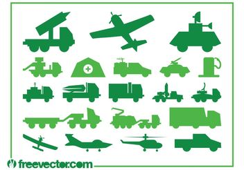 Military Vehicles Graphics - Kostenloses vector #162345