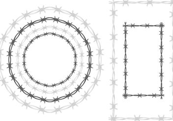 Barbed Wire Vector Frames - бесплатный vector #162415