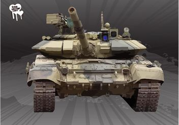 Tank Front View - Kostenloses vector #162495