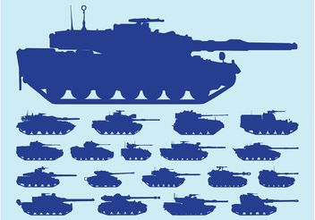 Tanks Silhouettes - Kostenloses vector #162535