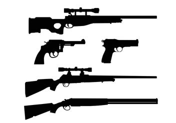 Gun Shapes - vector gratuit #162555