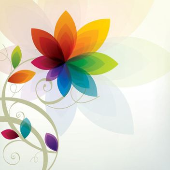 Colorful Summer Flower Background - vector gratuit #162595