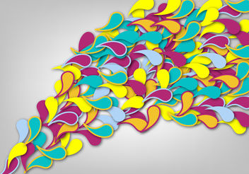 Flowing Multicolored Swirls Background - vector gratuit #162605