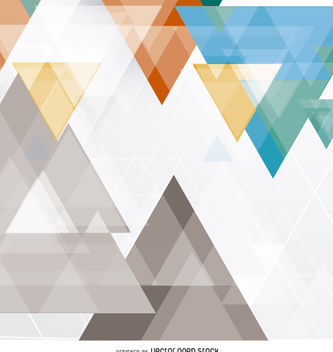 Abstract triangles background - vector #162645 gratis
