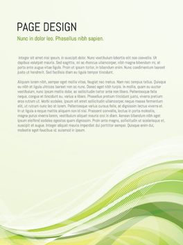 Green Waves Page Design - Free vector #162675