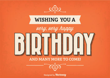Retro Minimal Birthday Card - vector gratuit #162685