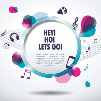 Lets Go Musical Banner - Free vector #162705