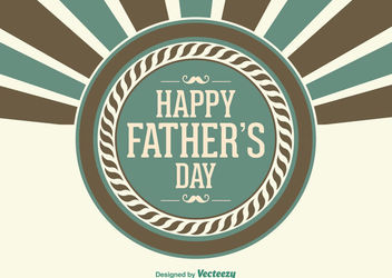 Father's Day Retro Greeting Card - vector gratuit #162735
