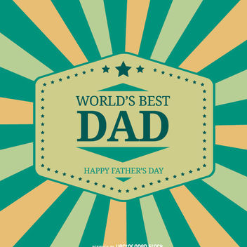 World's best DAD vintage design - бесплатный vector #162775