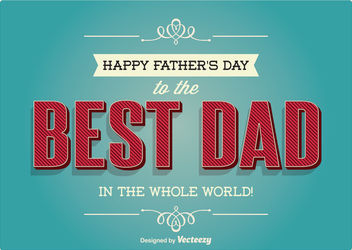 Vintage Father's Day Greeting Card - Kostenloses vector #162805