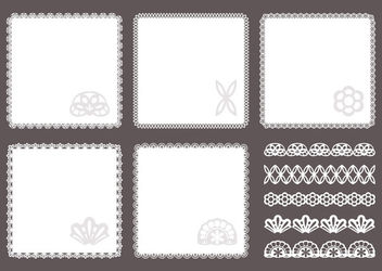 Decorative Doily Lace Squares Pack - vector gratuit #162855