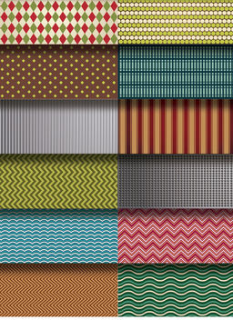 12 patterns and textures set - бесплатный vector #162875