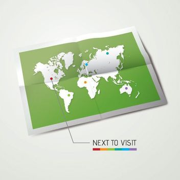 Travel Map Printed Paper Background - vector #162975 gratis
