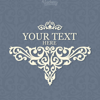 Beautiful Floral Vintage Invitation Template - vector #163025 gratis